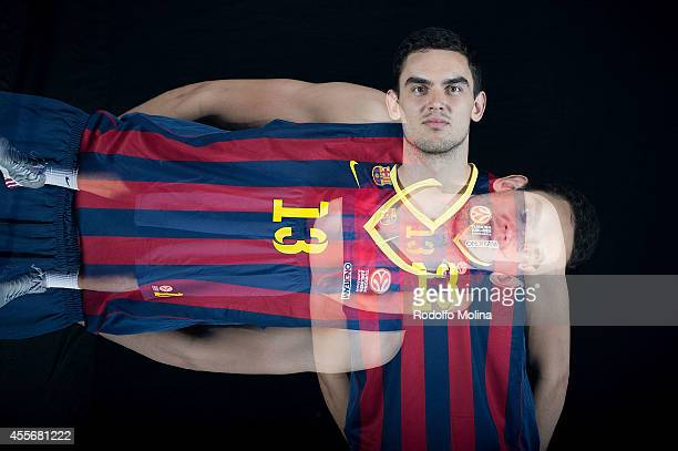 Tomas Satoransky #13 of FC Barcelona poses during the FC Barcelona 2014/2015 Turkish Airlines Euroleague Basketball Media Day at Ciutat Esportiva...