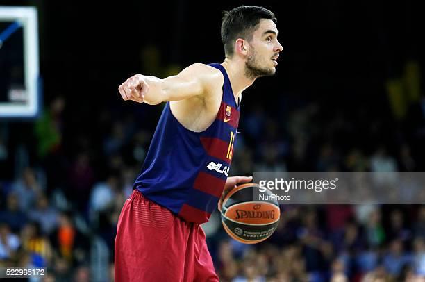 Tomas Satoransky during the match between FC Barcelona abd Lokomotiv Kuban corresponding to the 1/4 round 4 of the basketball euroleague played at...