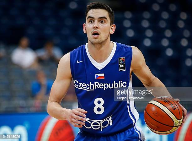 Tomas Satoransky of Czech Republic in action during the 2016 FIBA World Olympic Qualifying basketball Group B match between Latvia and Czech Republic...