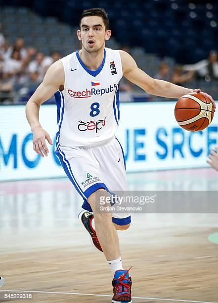 Tomas Satoransky of Czech Republic in action during the 2016 FIBA World Olympic Qualifying basketball Group A match between Czech Republic and Japan...