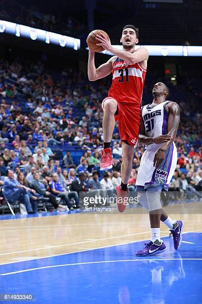 Tomas Satoransky of the Washington Wizards goes for a lay up against the Sacramento Kings on October 15 2016 at Rupp Arena in Lexington Kentucky NOTE...