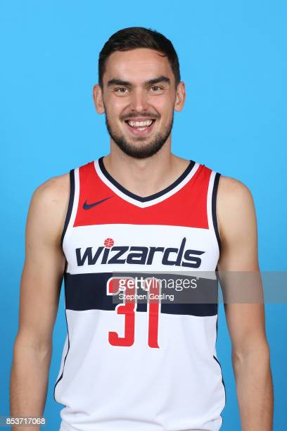 Tomas Satoransky of the Washington Wizards poses for a head shot during Media Day on September 25 2017 at Captial One Center in Washington DC NOTE TO...