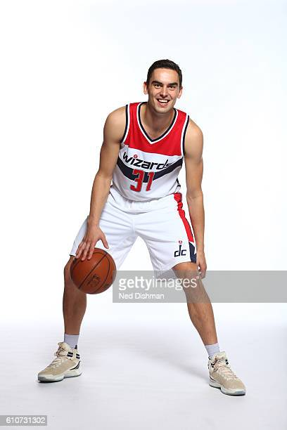 Tomas Satoransky of the Washington Wizards poses for a portrait during the 20162017 Media Day on September 26 2016 at the Verizon Center in...