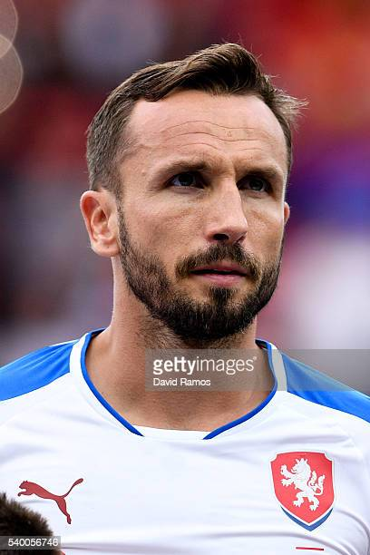 Tomas Sivok of Czech Republic poses prior to the UEFA EURO 2016 Group D match between Spain and Czech Republic at Stadium Municipal on June 13 2016...
