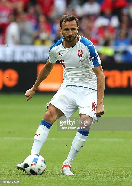 Tomas Sivok of the Czech Republic in action during the UEFA Euro 2016 Group D match between the Czech Republic and Croatia at Stade GeoffroyGuichard...