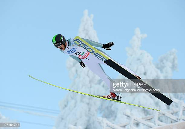 Tomas Slavik of Czech Republic competes in the Gundersen Ski Jumping HS 142/10km Cross Country event during day two of the FIS Nordic Combined World...