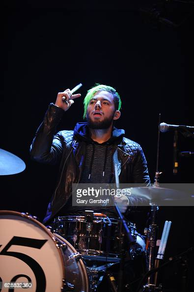 Tomas Slemenson of the band LOS 5 performs on stage during Z100 CocaCola All Access Lounge at Z100's Jingle Ball 2016 Presented by Capital One...