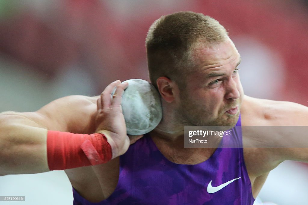 Tomas Stanek of the Czech Republic competesthe athletics meeting of Kamila Skolimowska at the National Stadium in Warsaw Poland on August 28 2016