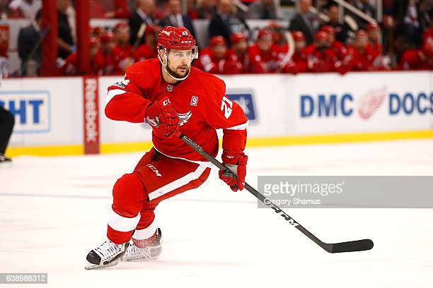 Tomas Tatar of the Detroit Red Wings skates against the Montreal Canadiens at Joe Louis Arena on January 16 2017 in Detroit Michigan