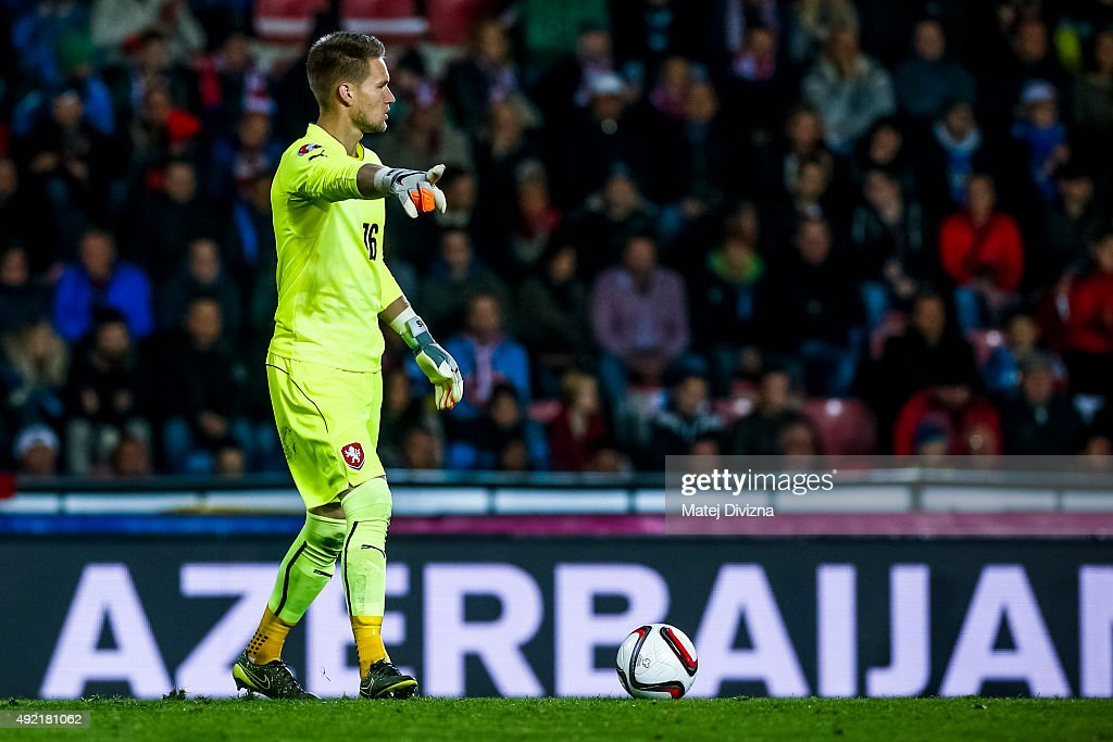 <a gi-track='captionPersonalityLinkClicked' href=/galleries/search?phrase=Tomas+Vaclik&family=editorial&specificpeople=5437912 ng-click='$event.stopPropagation()'>Tomas Vaclik</a> of Czech Republic in action during the UEFA EURO 2016 Group A Qualifier match between Czech Republic and Turkey at Letna Stadium on October 10, 2015 in Prague, Czech Republic.