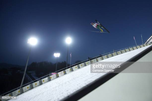 Tomas Vancura of the Czech Republic jumps during trainining for the 2017 FIS Ski Jumping World Cup test event For PyeongChang 2018 at Alpensia Ski...