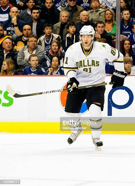 Tomas Vincour of the Dallas Stars skates on the ice against the Vancouver Canucks during second period at Rogers Arena on March 30 2012 in Vancouver...