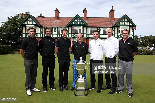 Tomasz Anderson of Brocket Hall Daniel Brown of Bedale Ashley Chester of Hawkstone Park Great Britain and Ireland Walker Cup Captain Nigel Edwards...