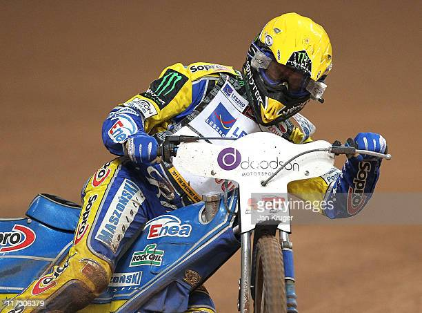 Tomasz Gollob of Poland in action during the FIM Doodson British Speedway Grand Prix at Millennium Stadium on June 25 2011 in Cardiff Wales