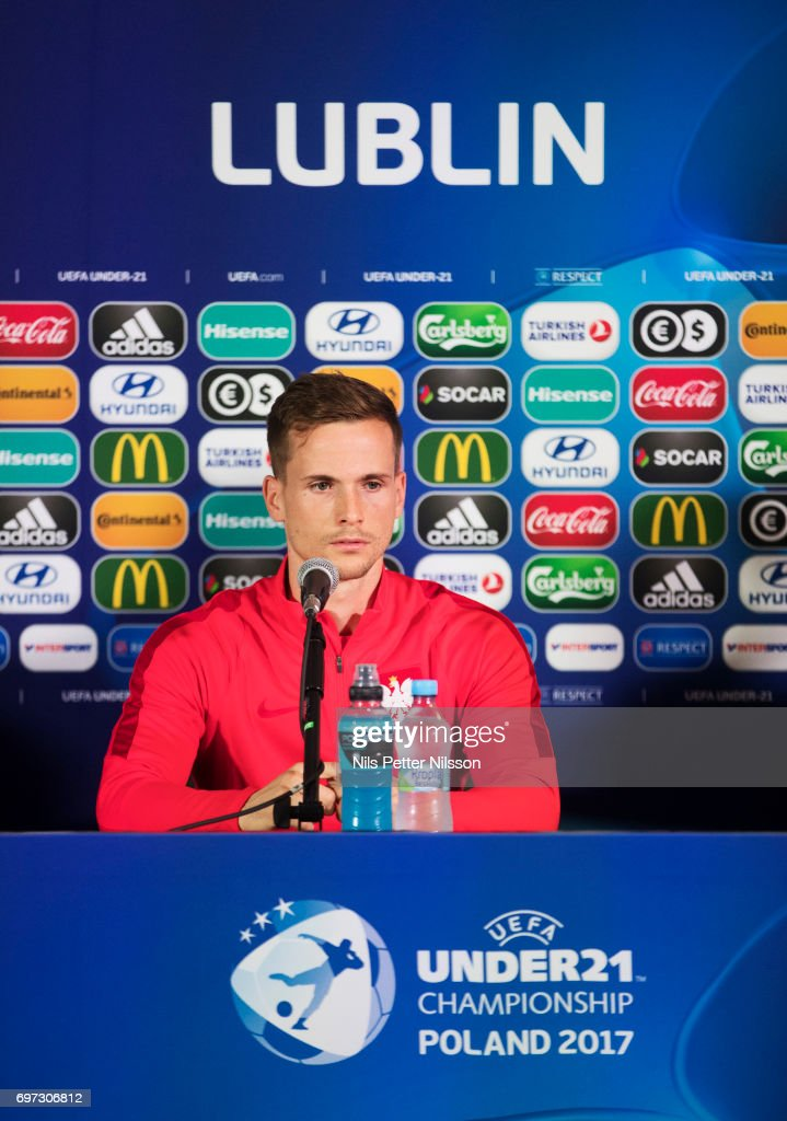 Tomasz Kdziora of Poland during the Polish U21 national team press conference at Arena Lublin on June 18, 2017 in Lublin, Poland.