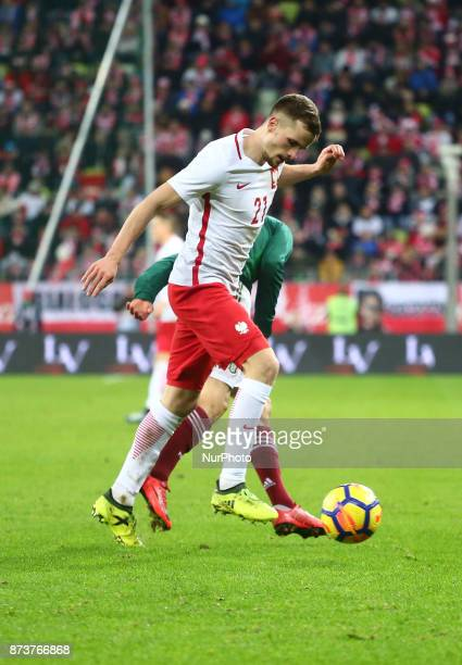 Tomasz Kedziora and Hirving Lozano during the international friendly soccer match between Poland and Mexico at the Energa Stadium in Gdansk Poland on...