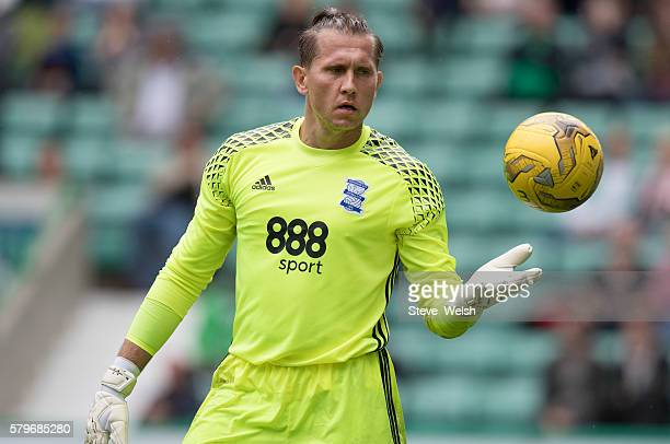 Tomasz Kuszczak in action for Birmingham City during the PreSeason Friendly between Hibernian and Birmingham City at Easter Road on July 24 2016 in...
