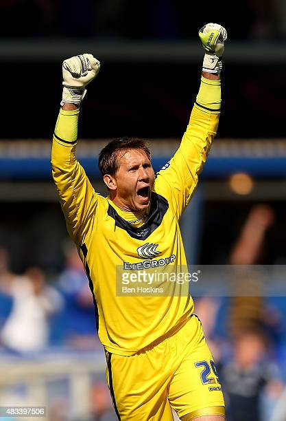 Tomasz Kuszczak of Birmingham celebrates his team's second goal of the game during the Sky Bet Championship match between Birmingham City and Reading...