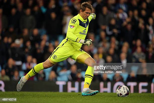 Tomasz Kuszczak of Birmingham City during the Capital One Cup Third Round match between Aston Villa and Birmingham City at Villa Park on September 22...
