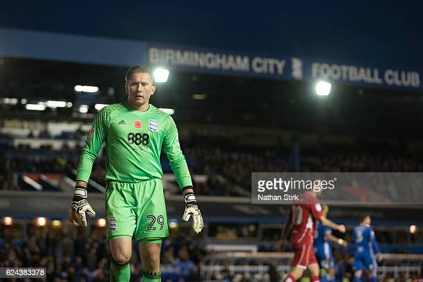 Tomasz Kuszczak of Birmingham City looks on during the Sky Bet Championship match between Birmingham City and Bristol City at St Andrews Stadium on...