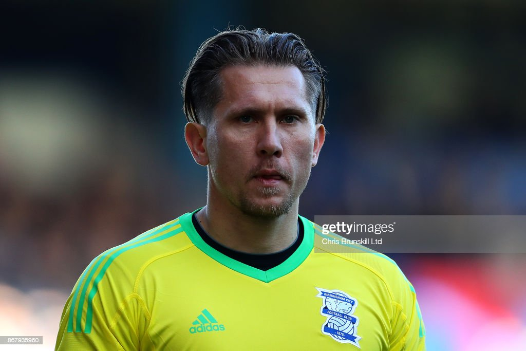 Tomasz Kuszczak of Birmingham City looks on during the Sky Bet Championship match between Birmingham City and Aston Villa at St Andrews (stadium) on October 29, 2017 in Birmingham, England.