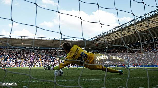 Tomasz Kuszczak of Birmingham saves a last minute penalty from Orlando Sa of Reading during the Sky Bet Championship match between Birmingham City...
