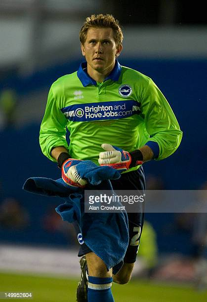 Tomasz Kuszczak of Brighton during the pre season friendly match between Brighton Hove Albion and Reading at American Express Community Stadium on...