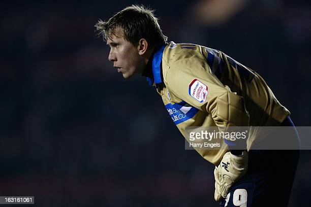 Tomasz Kuszczak of Brighton Hove Albion in action during the npower Championship match between Bristol City and Brighton Hove Albion at Ashton Gate...