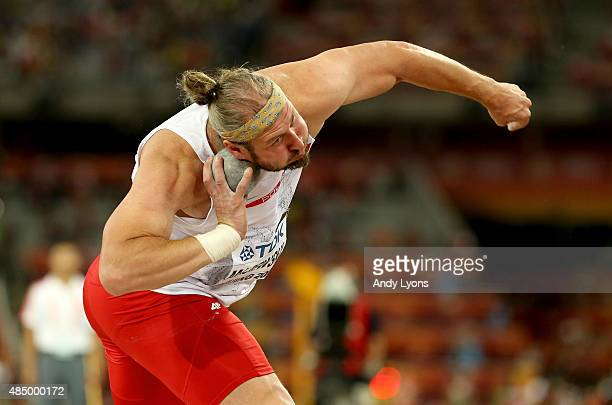 Tomasz Majewski of Poland competes in the Men's Shot Put Final during day two of the 15th IAAF World Athletics Championships Beijing 2015 at Beijing...