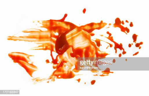 Tomato ketchup smeared grunge background