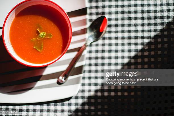 Tomato soup made with indian spices