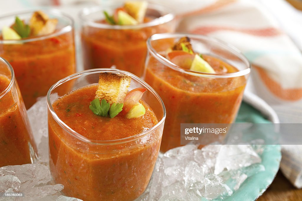Tomato soup. : Stock Photo