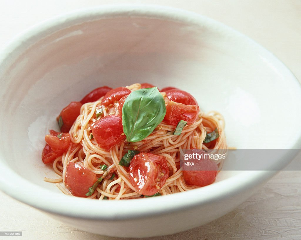 Tomato Spaghetti : Stock Photo