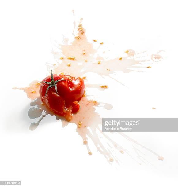 Tomato Splat on White
