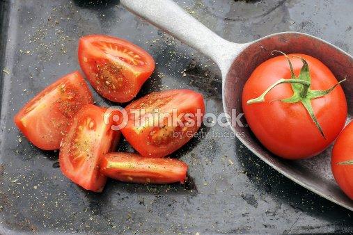 tomato vintage style dark background : Stock Photo