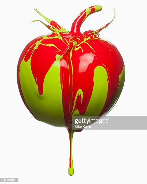 Tomatoe dripping with color