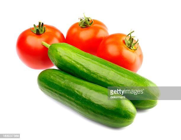 Tomates et de concombres