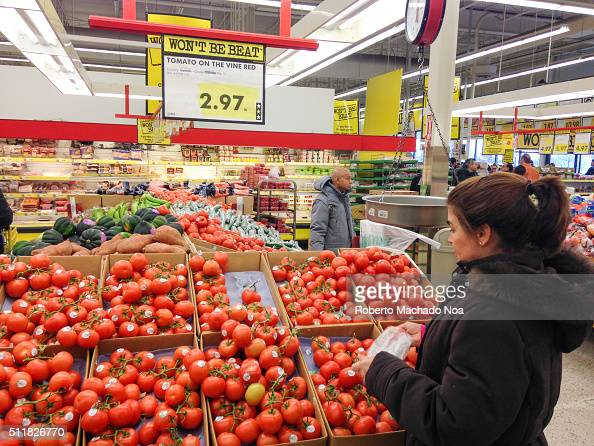 LAWRENCE TORONTO ONTARIO CANADA Tomatoes are at 297 per pound Weak Canadian dollar provoke a rise in prices of produce as a result long lines form in...
