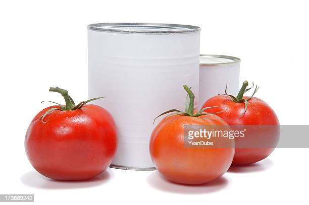 tomatos and cans