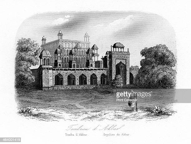 Tomb of Akbar the Great Sikandra India c1840 The mausoleum of Akbar the Great Indian ruler of the Mughal Empire