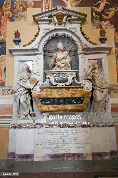 Tomb of Galileo Galilei in the Basilica of Santa Croce Florence Italy Europe