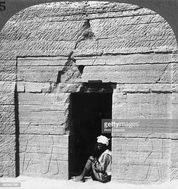 Tomb of Harkhuf a frontier baron in the days of the pyramid builders Assuan Egypt 1905 Stereoscopic card Detail From a series called Egypt Through...