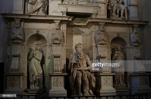 Tomb of Pope Julius II 15051545 Built by Michelangelo and his assistants Detail San Pietro in Vincoli Church Rome Italy