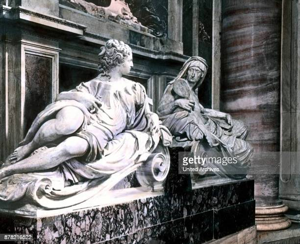 Tomb of Pope Paul III at St Peter's cathedral in Rome Italy 1920s