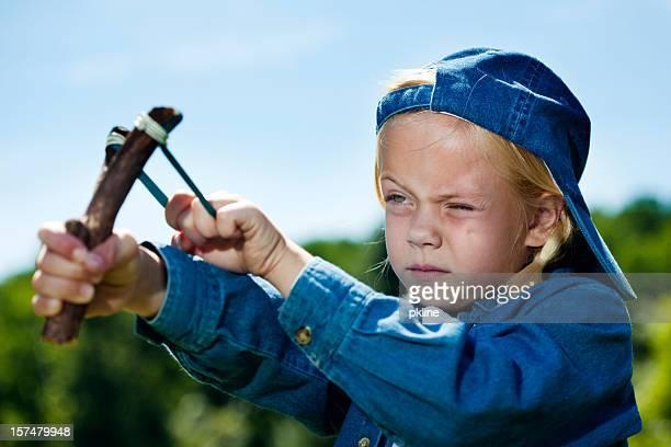 Tomboy shooting slingshot