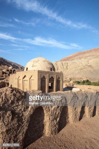 Tombs and ruins in old village, Xinjiang, China