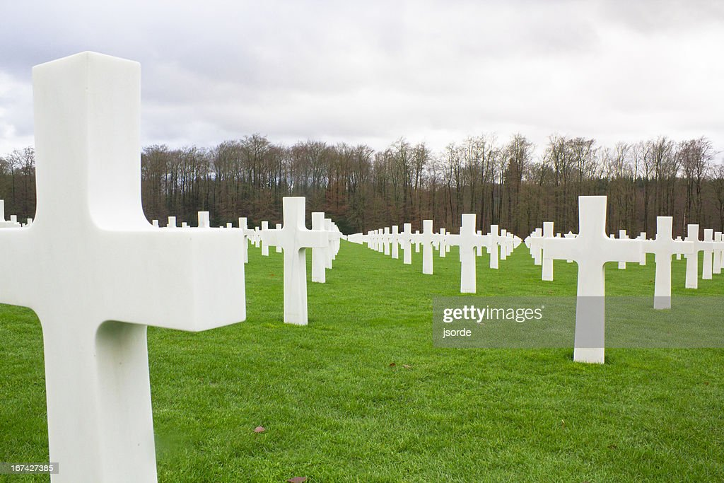 Tombstone in einem War Memorial cemetery : Stock-Foto