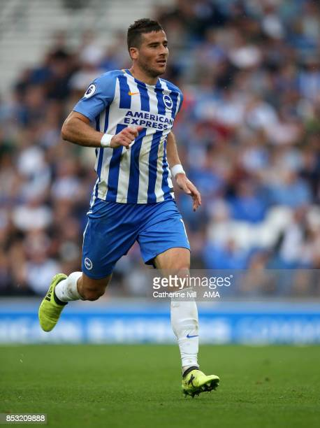 Tomer Hemed of Brighton and Hove Albion during the Premier League match between Brighton and Hove Albion and Newcastle United at Amex Stadium on...