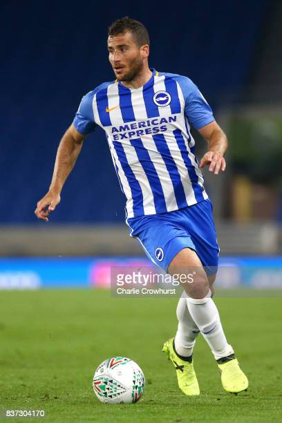 Tomer Hemed of Brighton and Hove Albion in action during the Carabao Cup Second Round match between Brighton Hove Albion and Barnet at Amex Stadium...