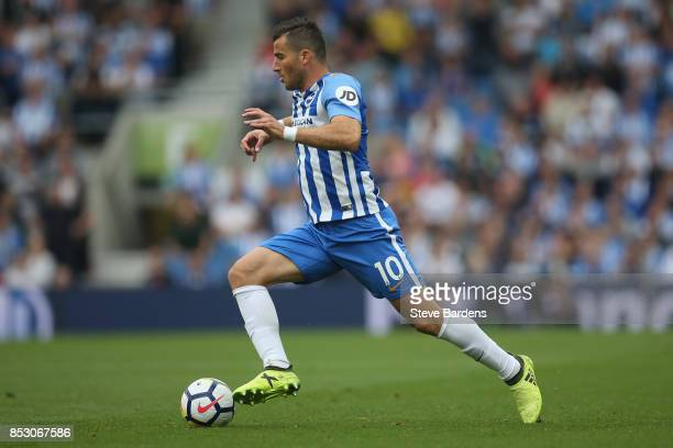 Tomer Hemed of Brighton and Hove Albion in action during the Premier League match between Brighton and Hove Albion and Newcastle United at Amex...